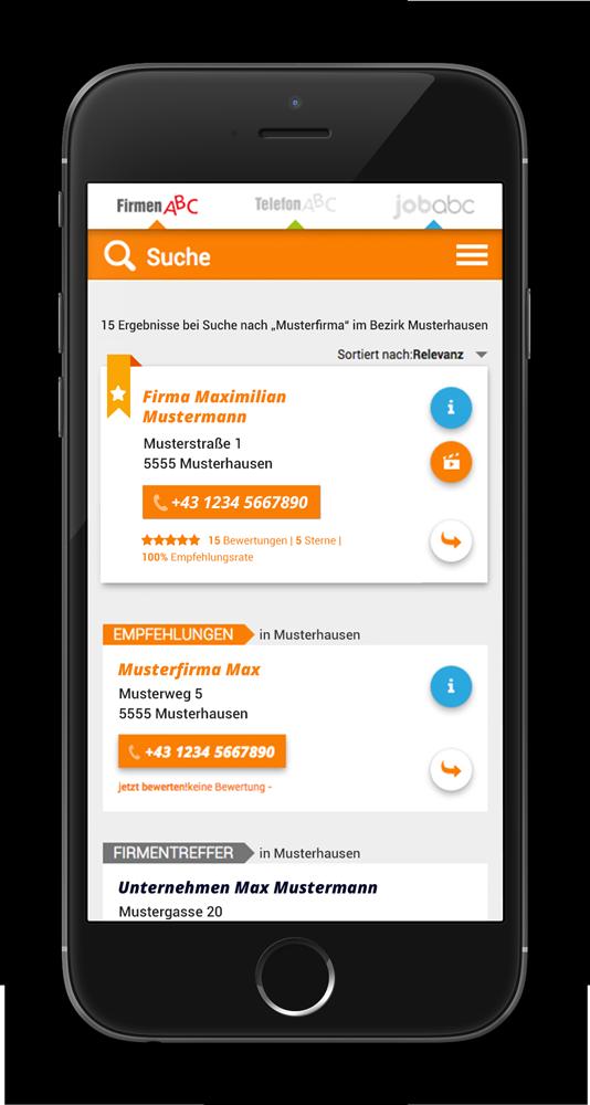 FirmenABC App für iOS und Android
