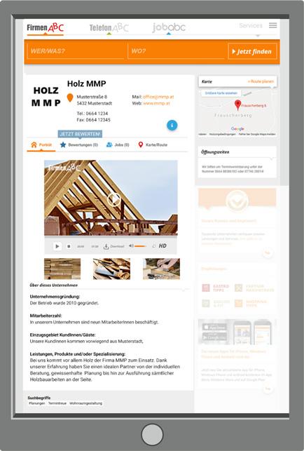 FirmenABC: Premium-Eintrag im Detail